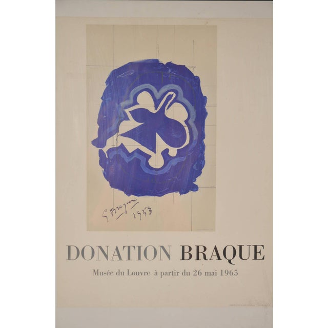 Lithography by Georges Braque for Louvre Museum, Printed by Mourlot in 1965 - Image 3 of 6