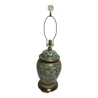 Vintage Oriental Porcelain Butterfly Lamp