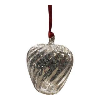 1990s Steuben Glass Apple Ornament For Sale