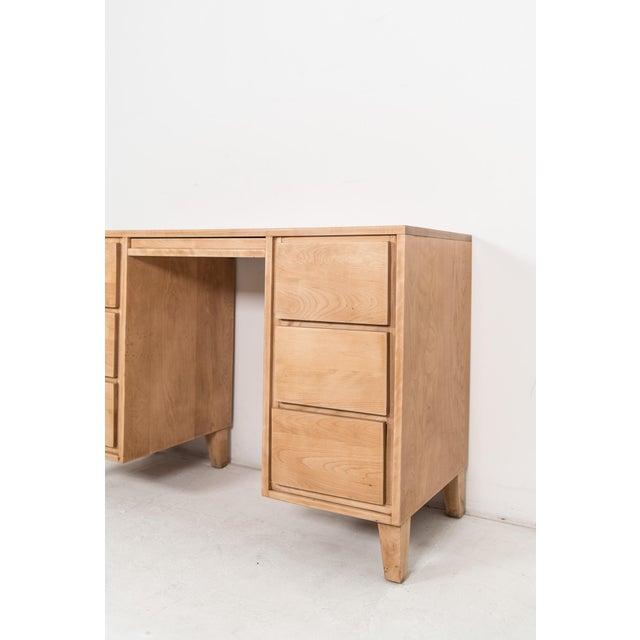 1940s 1940s Mid-Century Modern Russel Wright for Conant Ball Maple Partner Desk For Sale - Image 5 of 10