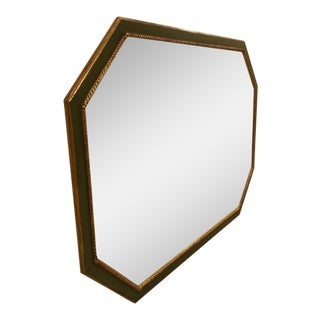 Custom Green & gold Octagonal Mirror
