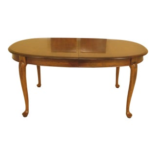 Ethan Allen Queen Anne Maple Dining Room Table