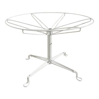 Homecrest Mid - Century Modern White Metal Side Table