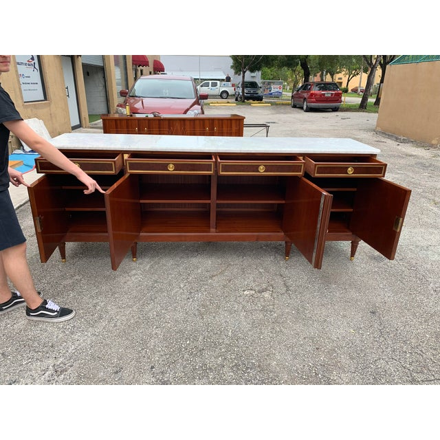 1910s 1910s French Louis XVI Antique Mahogany Sideboard For Sale - Image 5 of 13