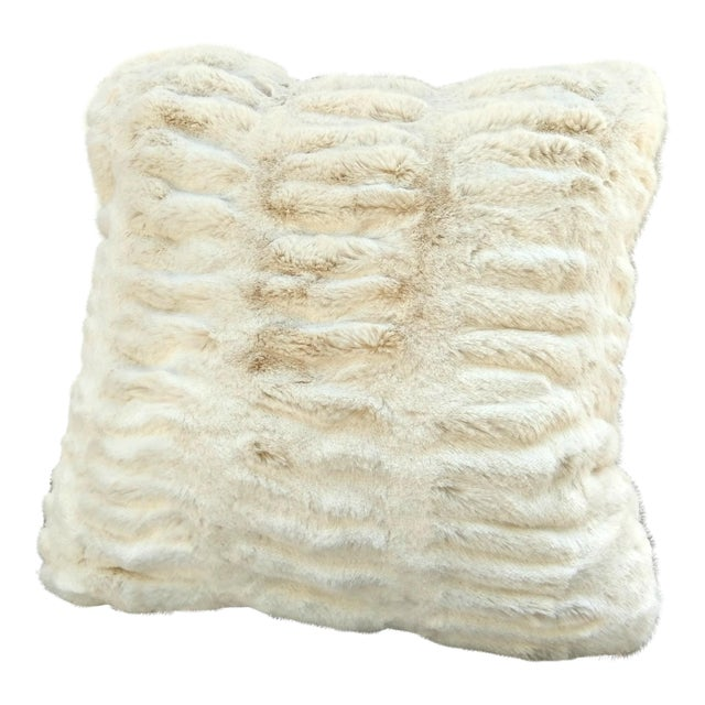Modern Faux Fur Pillow For Sale