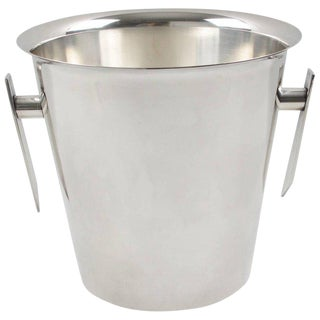 French Mid-Century Modern Silver Plate Champagne Bucket Wine Cooler For Sale