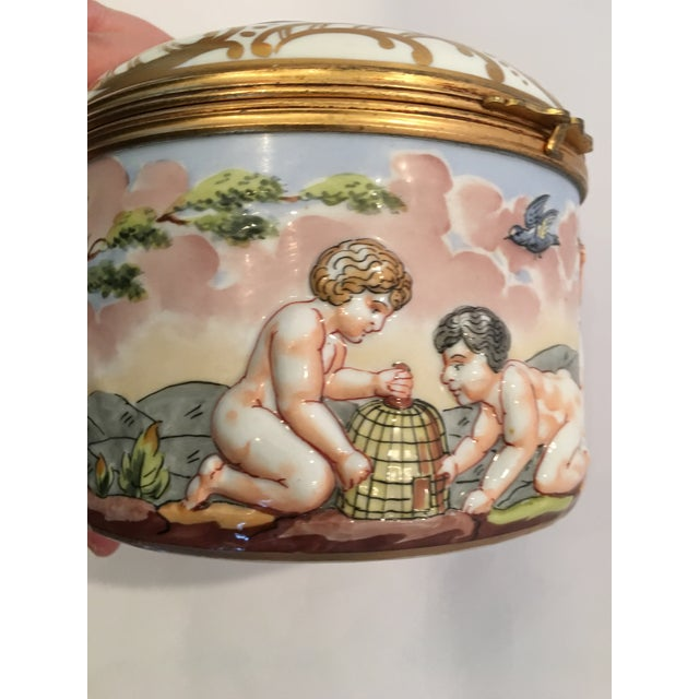 French Wine Grape Capodimonte Box - Image 8 of 11