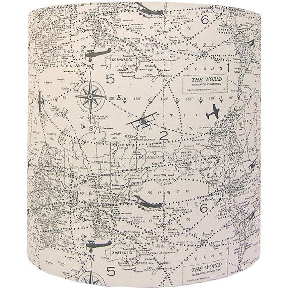 Handmade item Materials: designer fabric, wire lamp shade rings, styrene Made to order. Ready to ship in 2-3 weeks. - New...