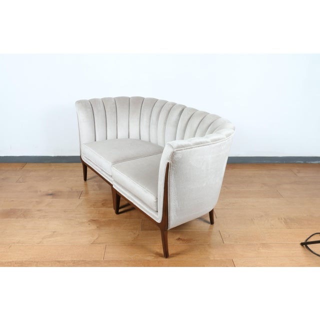 Mohair Hollywood Regency Pair of Chairs For Sale - Image 11 of 13