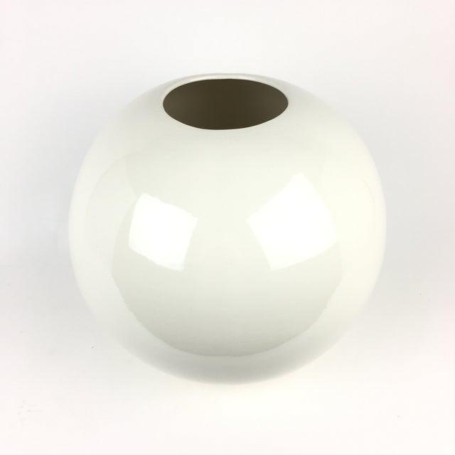 Large White Ceramic Globe Vase Chairish