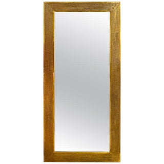 Brass Palatial Modern Floor, Console or Entryway Mirror For Sale
