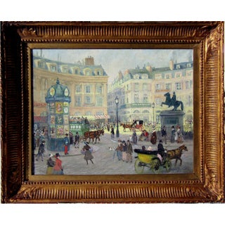 1880s French Impressionist Oil Painting, Paris For Sale