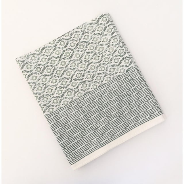 European Handmade Block Print Tablecloth - Image 2 of 7