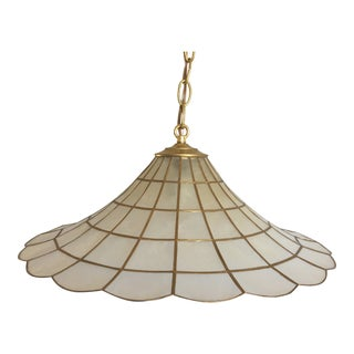 Capiz Shell Parasol Pendant For Sale