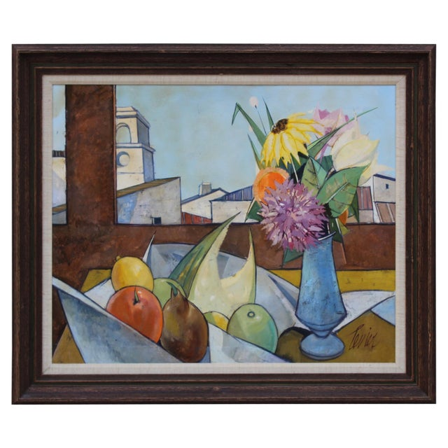 Oil on Canvas Artwork by French Artist Charles Levier For Sale - Image 11 of 11