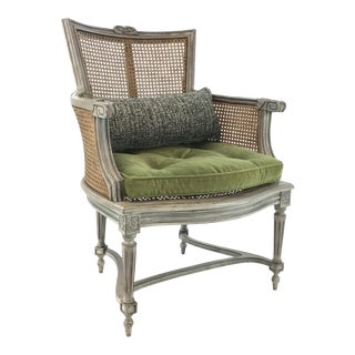 Transitional Hickory Chair Caned Kensington Chair For Sale