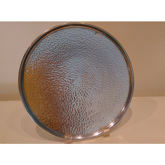 Hammered Silverplate Shallow Dish - Image 2 of 6