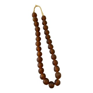 African Jumbo Glass Trading Beads String For Sale