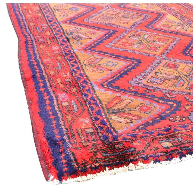 "Vintage Hamadan Wool Area Rug - 5'5"" X 9'1"" - Image 3 of 3"