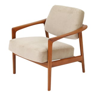 Mid-Century Modern Folke Ohlsson for Dux Solid Teak Lounge Chair For Sale