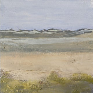 """""""Dunes"""" Contemporary Abstract Seascape Acrylic Painting For Sale"""