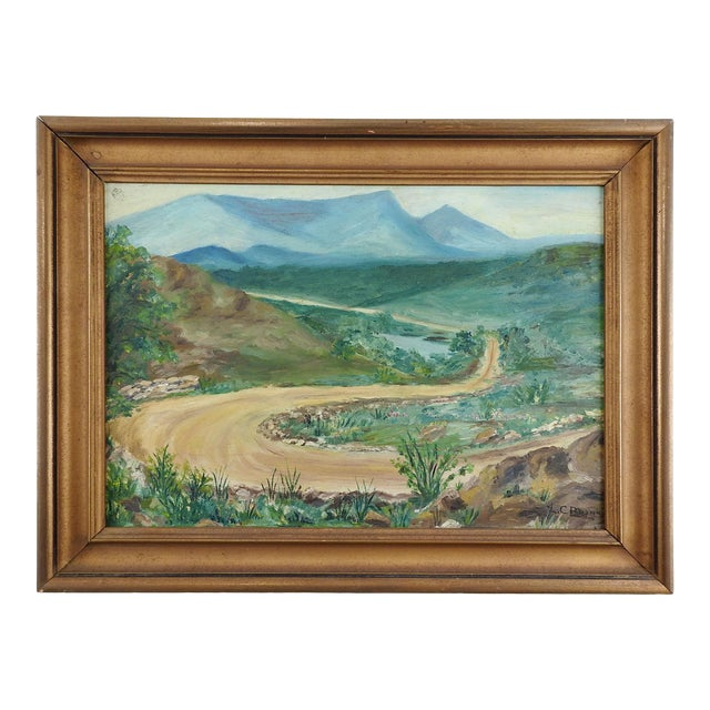 Mountain Road Landscape Painting For Sale