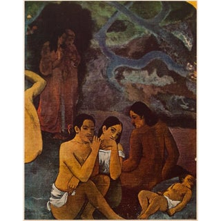 """1950s Paul Gauguin """"Where Do We Come From?"""" First American Edition Lithograph Detail N3 For Sale"""