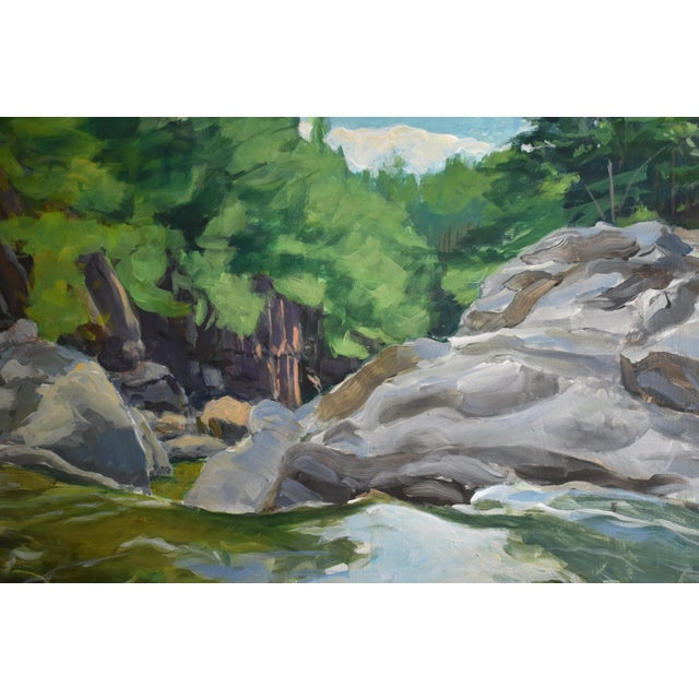 """Contemporary Contemporary Plein Air Painting, """"Above the Falls"""", by Stephen Remick For Sale - Image 3 of 6"""