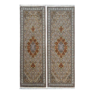 1930s Vintage Tabriz Runners - a Pair For Sale