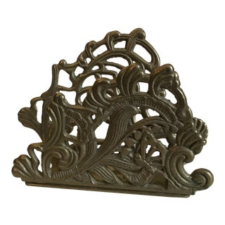 Mid 20th Century Brass Letter/Napkin Holder For Sale
