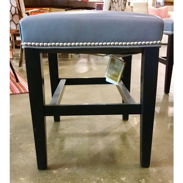 Modern Hickory Chair Co. Madigan Leather Bench For Sale - Image 3 of 6