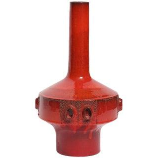 Large Red Ceramic Amphora Vase,Belgium ,1960s For Sale