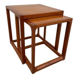 Kai Kristiansen Solid Teak Nesting Tables - Set of 2 For Sale