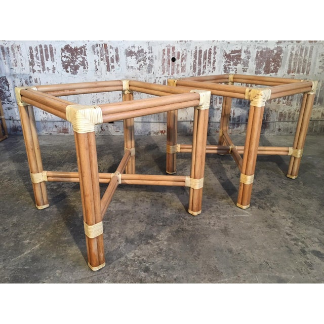 Rattan Dining Table Base by Kipp Stewart for Summit Furniture For Sale In Jacksonville, FL - Image 6 of 6