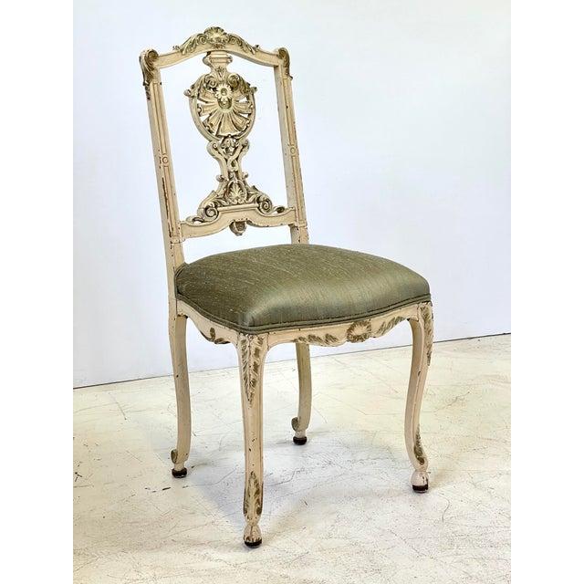 Italian Parcel Gilt Vanity Chair For Sale In Atlanta - Image 6 of 12