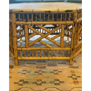 Vintage Mid-Century Boho Chic Rattan Coffee Table Preview