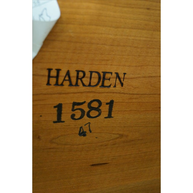 Brown Harden Round 3-Tier Side Table For Sale - Image 8 of 10