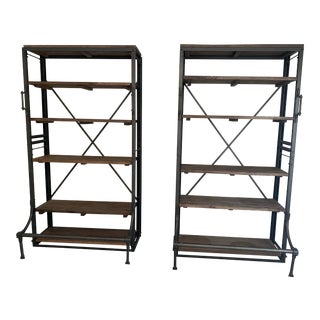 Restoration Hardware French Library Bookcases - a Pair For Sale