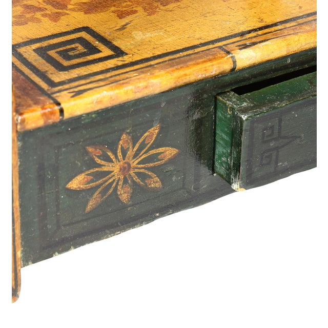 Green Regency Stencilled and Painted Side Table For Sale - Image 8 of 13