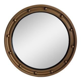 Art Deco English Convex Bullseye Mirror For Sale