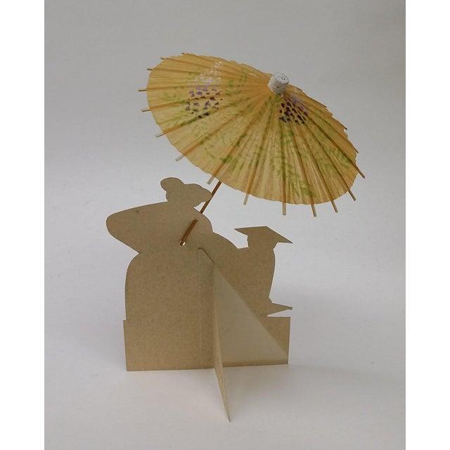 Vintage Japanese Paper Umbrella & Rickshaw Placeholders Set - Image 3 of 9