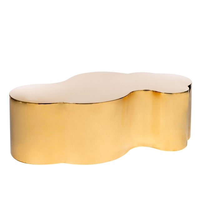 Luca Coffee Table in Gold For Sale
