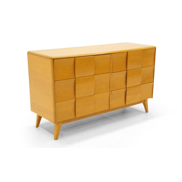Heywood Wakefield six-drawer dresser in Wheat finish. The Sculptura line is the only Heywood Wakefield designs we buy and...