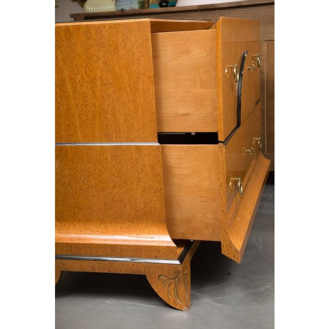 Biedermeier Style Chest with Black Granite Top For Sale In West Palm - Image 6 of 7