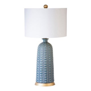 Melrose Table Lamp - Blue For Sale