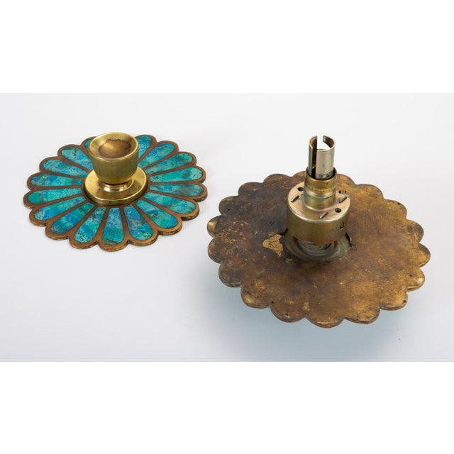Mid-Century Modern Mexican Modernist Cloisonné Door Knob Plates by Pepe Mendoza For Sale - Image 3 of 8