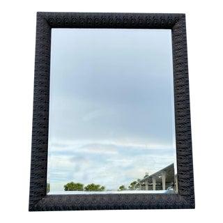 Dark Wood Carved Mirror For Sale