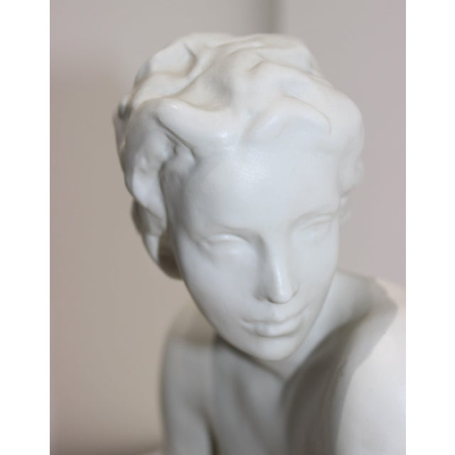 """Die Hockende"" Sculpture Signed by Fritz Klimsch as Produced by Rosenthal in the Largest Size For Sale In West Palm - Image 6 of 12"