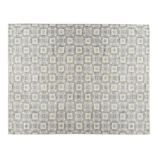 Contemporary Hand Woven Rug - 9′ × 11′9″ For Sale