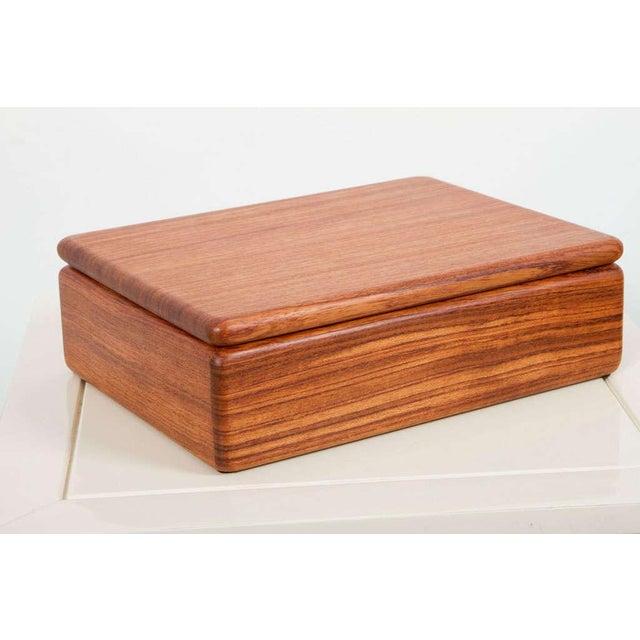 Teak Rectangular Teak Jewelry Box For Sale - Image 7 of 9